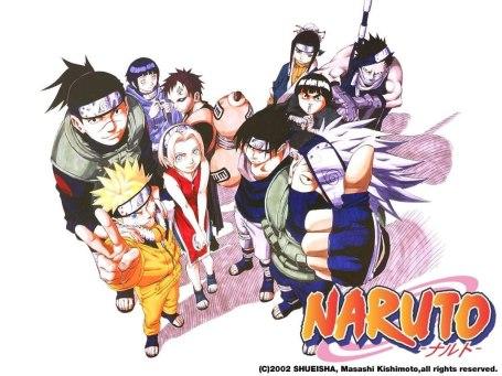 Naruto, Sasuke, Sakura, Kakashi, Iruka, Gaara, Lee, Haku, Zabuza, and Hinata